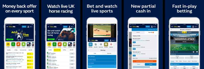 william hill apk fonctions