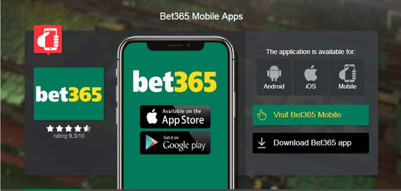 Bet365 mobile apps en cote d'ivoire