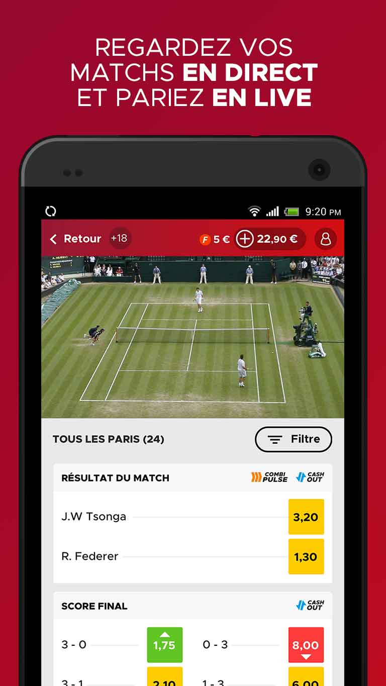 betclic application Streaming en direct