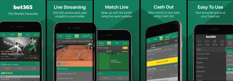 Principales caractéristiques bet365 mobile app
