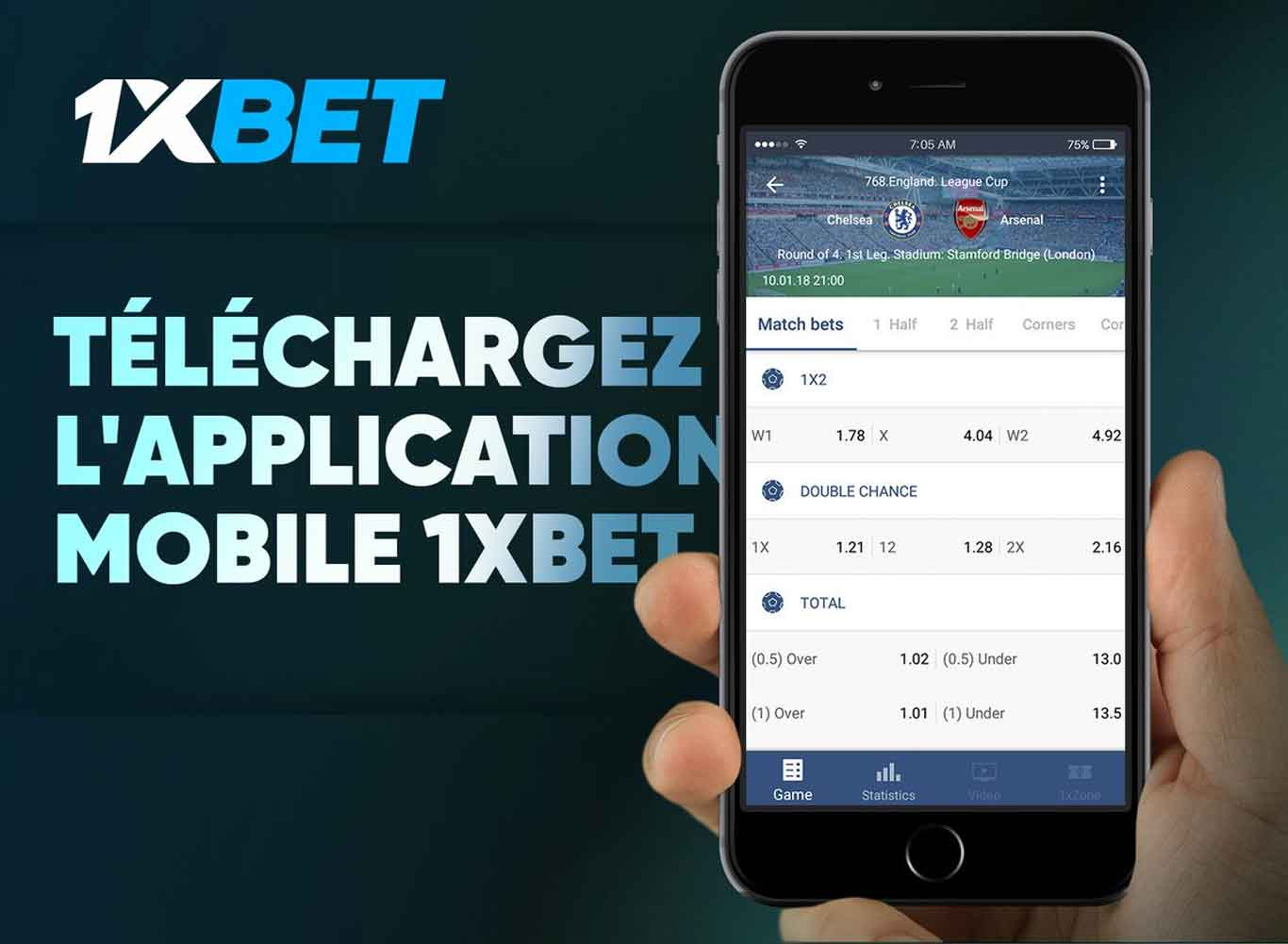 telecharger l'application mobile 1xbet